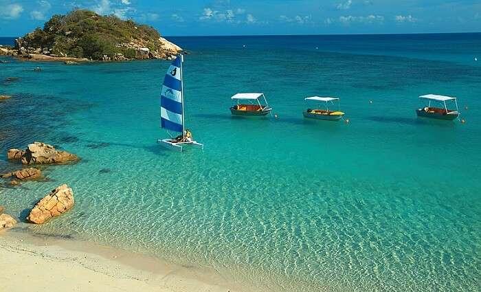 The quaint beach of Lizard island