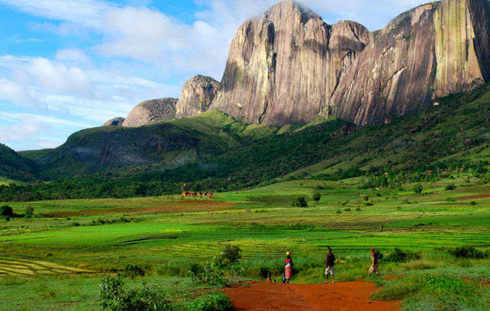 Andringitra Rockface at Madagascar Island country in Africa