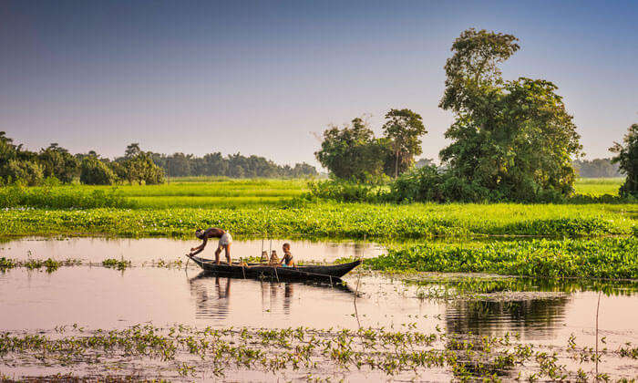 Majuli Island in India which was once the largest river island in world