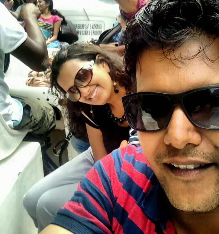 My Husband, Akshat and I enjoying our Mauritius Tour