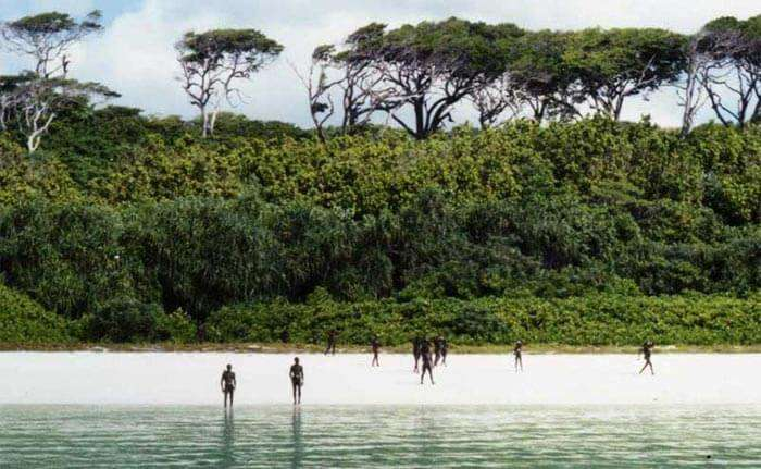 North sentinel Island of Andaman in Bay of Bengal