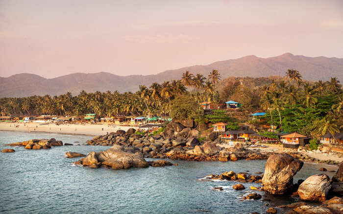 View of Palolem Beach in Goa