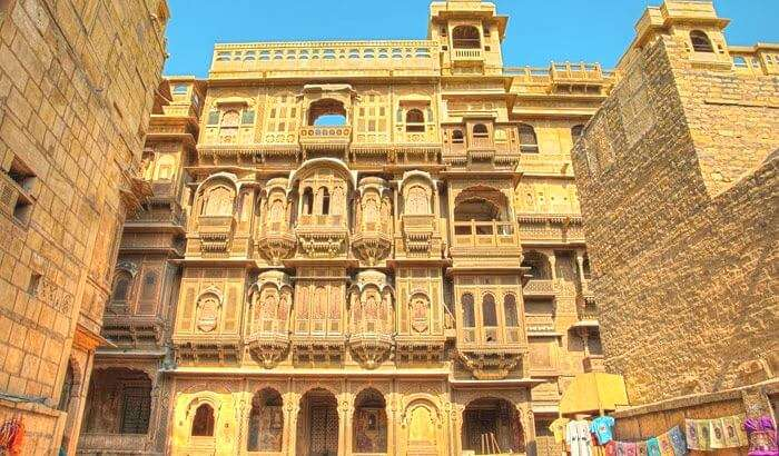 Another name among the tourist places in jaisalmer is Patwon ki haveli