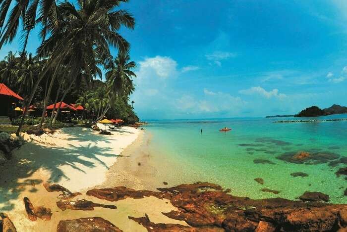 Turquoise waters of the Sibu Islands, Johor