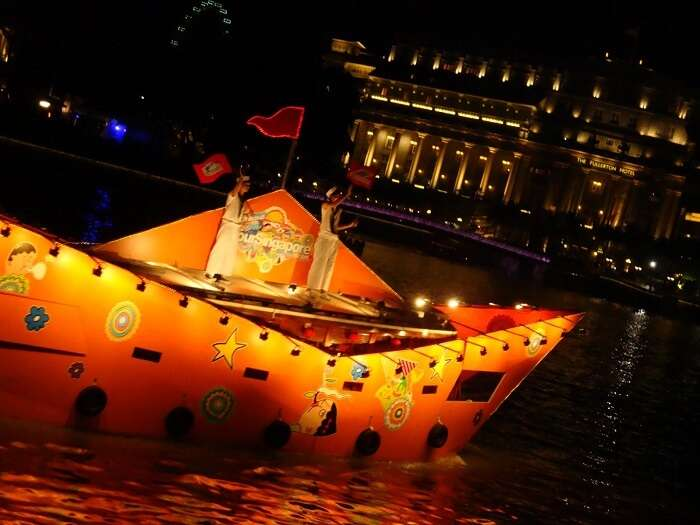 A performance during Singapore River Festival