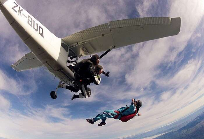 Skydiving in New Zealand is among the best things to do for fun