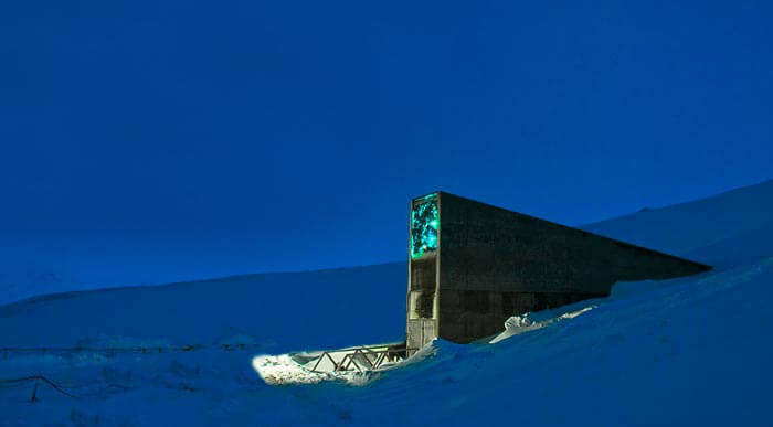 Svalbard Global Seed Vault, located in the North Sea