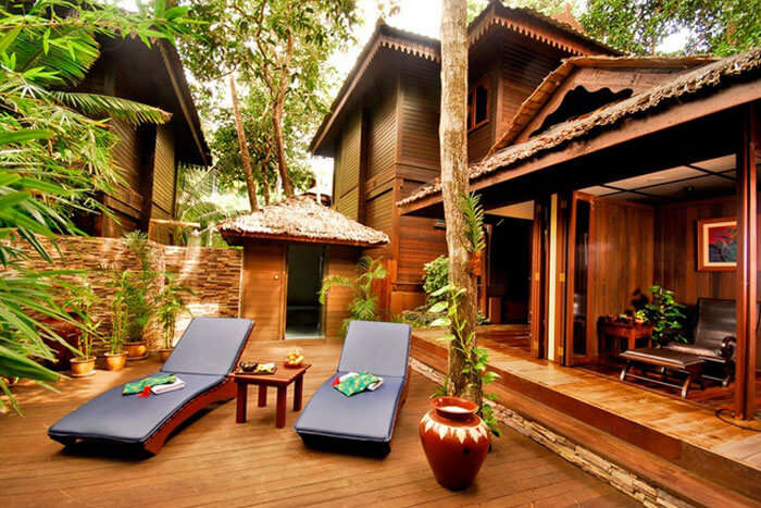 Spa area at The Taaras Beach & Spa Resort