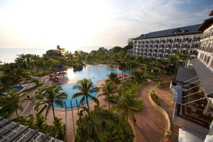Bird's eye view of the Thistle Port Dickson Resort