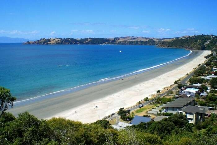 Onetangi Beach on Waiheke Island in Auckland