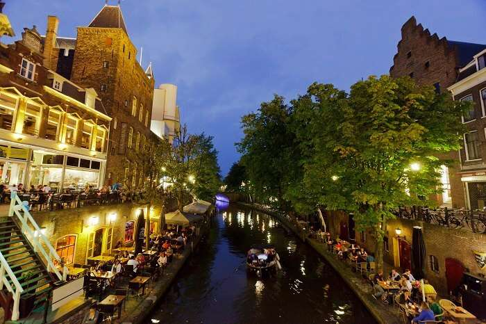 The glittering bays of Utrecht in Netherlands