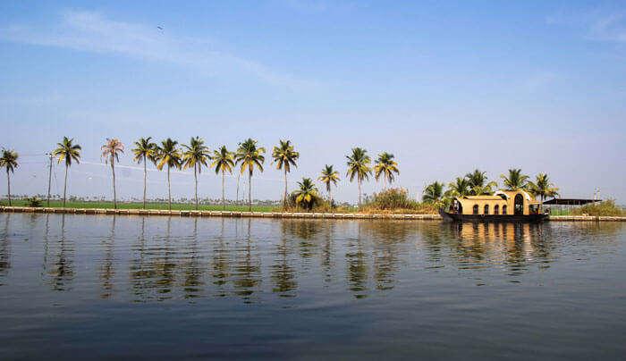 House boat at Vembanad Lake in Kerala
