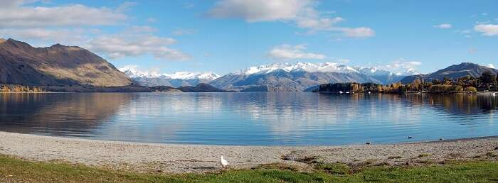 The mesmerising view of the Wanaka lake