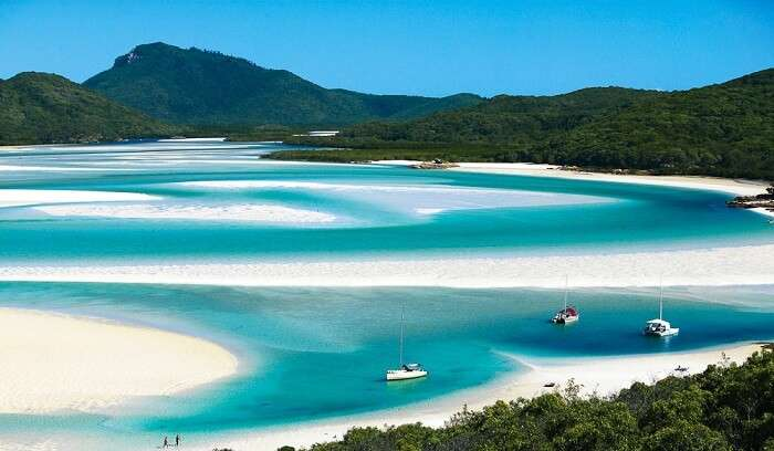 Whitehaven beach in Australia is one of the most scenic attractions in the continent