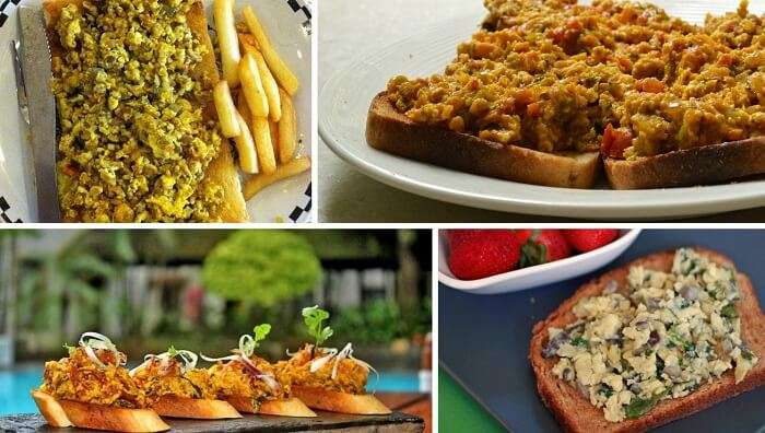 A collage of images of Akuri on toast
