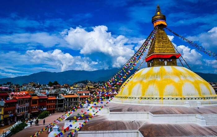 Boudhnath stupa is nepal is among the best places to see in Nepal