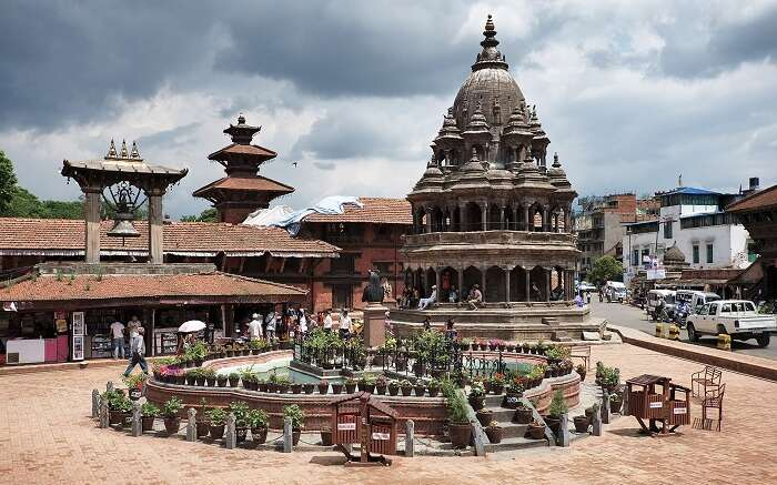A view of the Durbar Sqaure in Patan