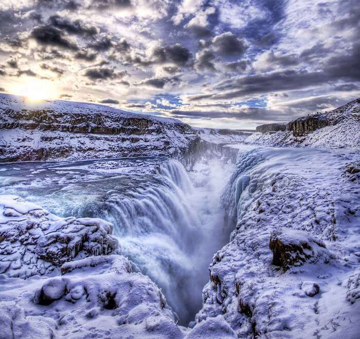 The Icy Pit to Hell at Gullfoss in Iceland