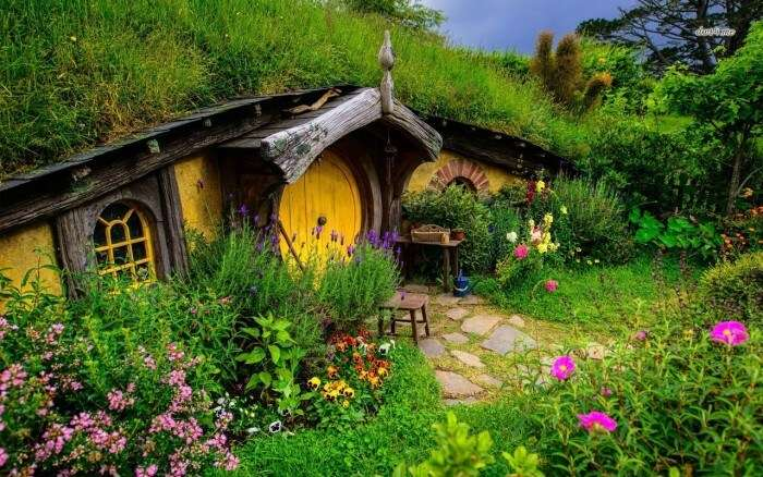 The beautiful house of Shire at the Hobbiton Movie Set