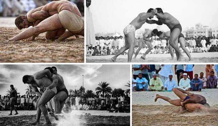 Watching Kushti is one of the fun things to do in Dubai for free