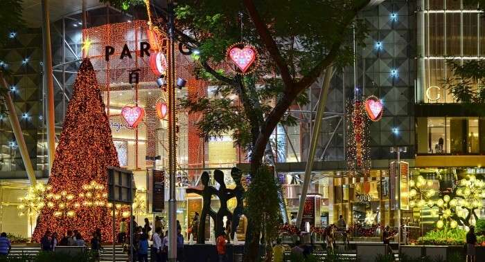 Christmas decorations on the Orchard Road