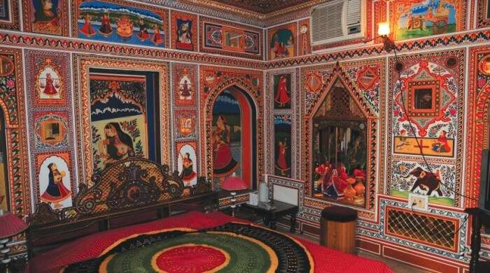 The Fresco paintings inside the Havelis at Shekhawati