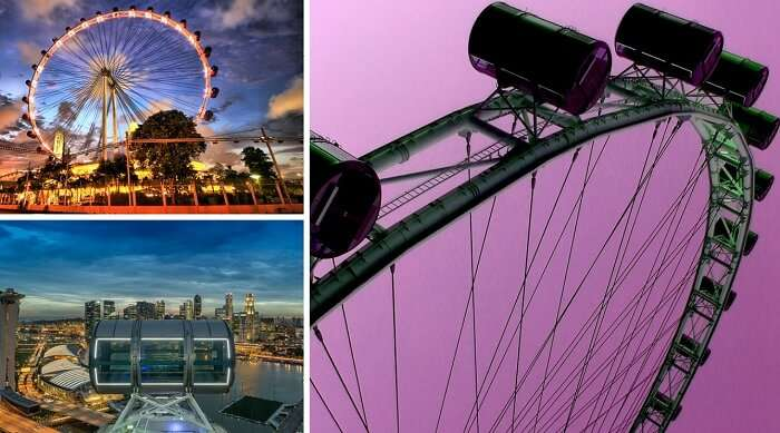 the different views of the Singapore flyer