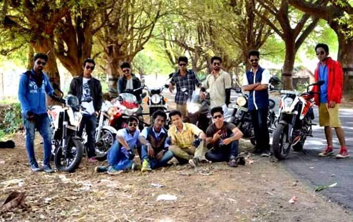 Biker gang on the way to Tamil Nadu