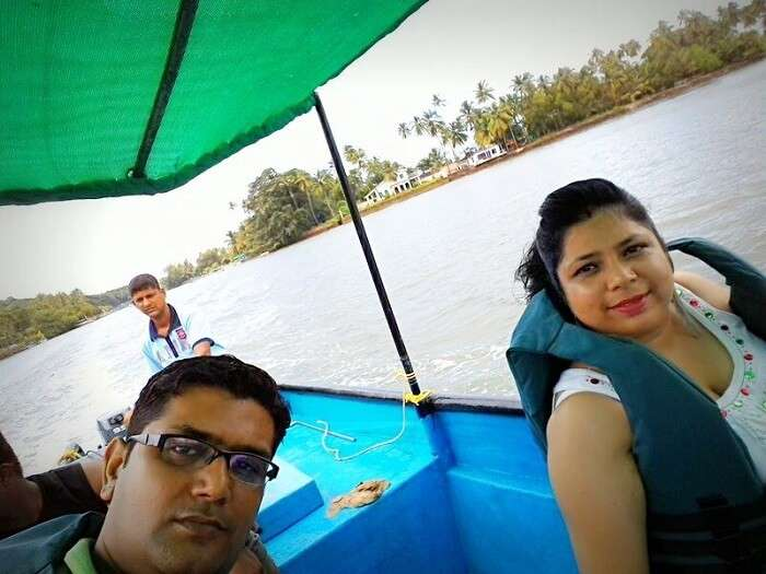 During the boat tour to Dolphin Spotting