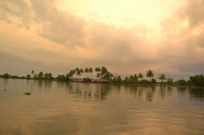 Sunset in Backwaters in Alleppey