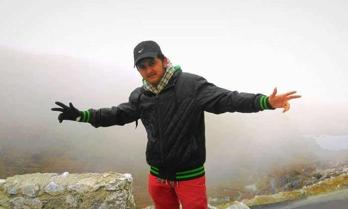 Balasubramanian in the backdrop of the Darjeeling Hills