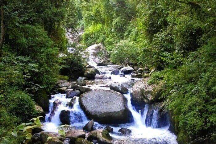 Waterfall in the forests of West Bengal