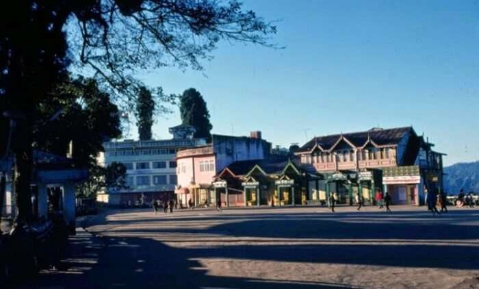 A view of Chowrasta or The Mall at Darjeeling