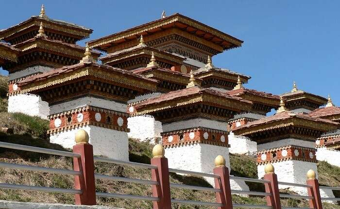 Some of the Chortens at the Dochula Pass