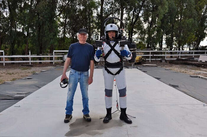 David Mayman and Nelson Tyler with JB-9 Jetpack