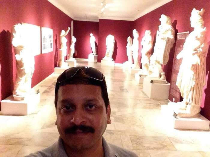 The sculptures at Antalya Museum