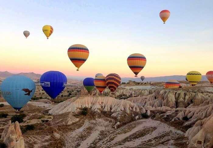 Hot air balloons at Cappadocia