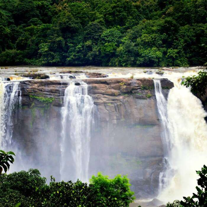 The beautiful Athirapally waterfalls