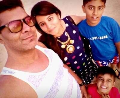 Family selfie in Goa