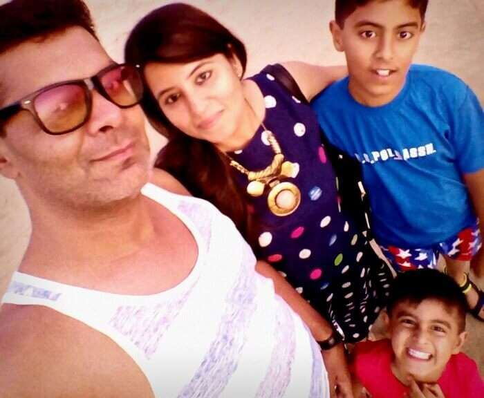 Family selfie in Goa