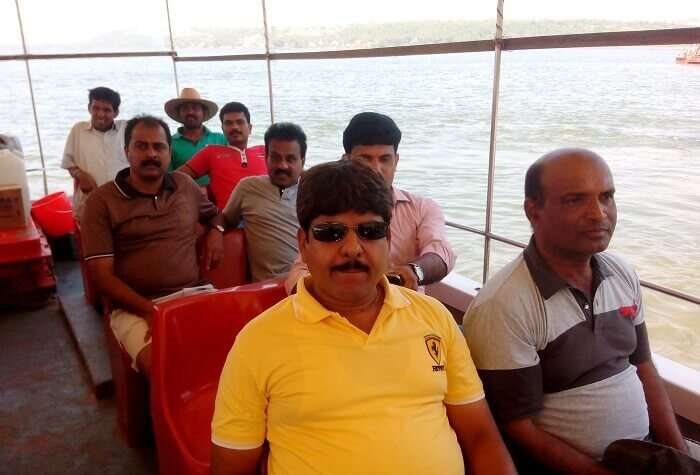 Boat ride on Mandovi river
