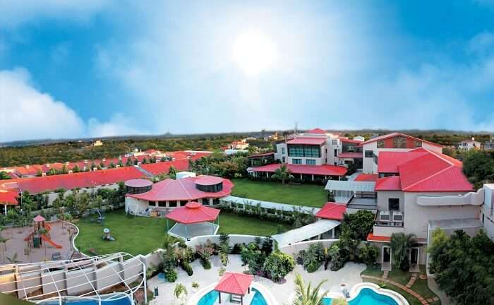 The widespread Leonia Holistic Resort is a popular name among the best resorts near Hyderabad