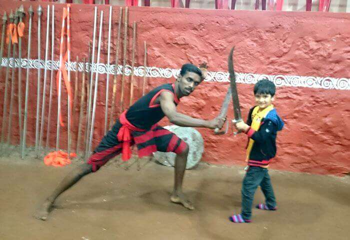 Vinits son enjoying a Martial arts performance