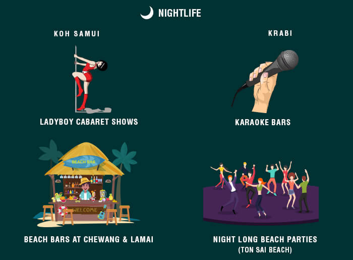 A synopsis of the nightlife of Samui & Krabi