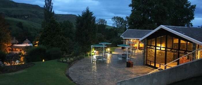 The scenic beauty of Sani Pass Hotel