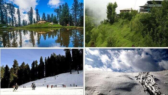 Beautiful views of the skiing activities and the serene surrounding at Narkanda
