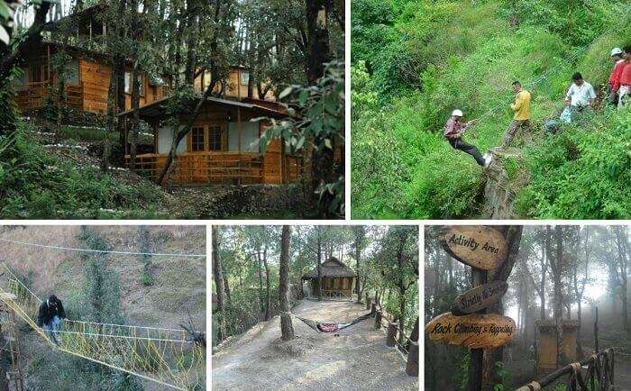 The numerous adventure activities in a serene background at Shoghi