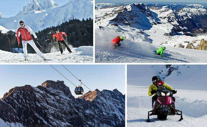 Skiing and cable car rides are among the popular activities at Engelberg