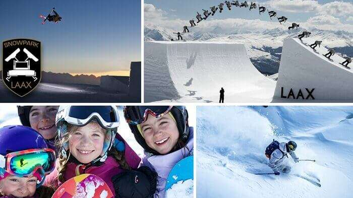 Snowboarding and skiing are very popular at the Laax ski resort