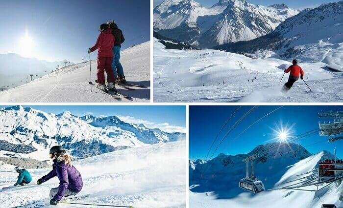 Many views of snow activities at Lenzerheide